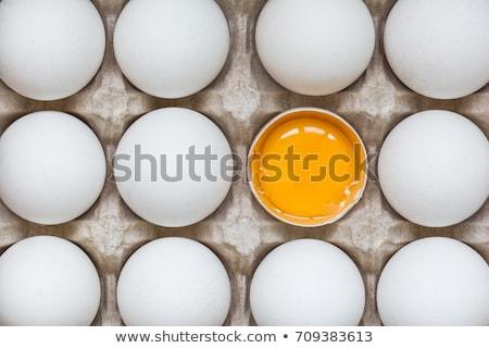 Tojás tojássárgája kagyló csomagol egy háttér Stock fotó © RuslanOmega