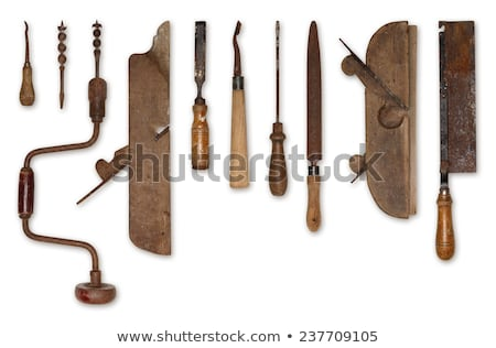 planer on wood in rusty background Stock photo © gewoldi