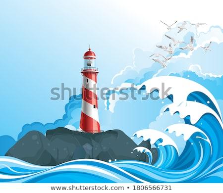 tidal breakers Stock photo © morrbyte