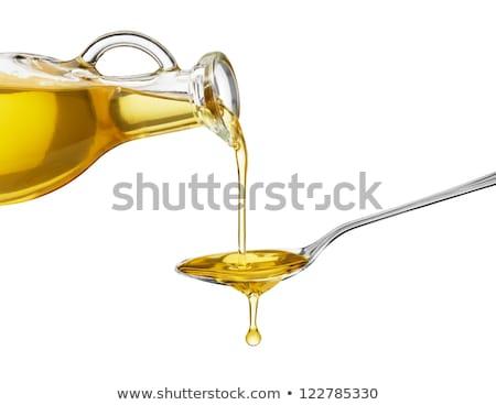 olijfolie · olie · olijven · bladeren · geïsoleerd · witte - stockfoto © angelsimon