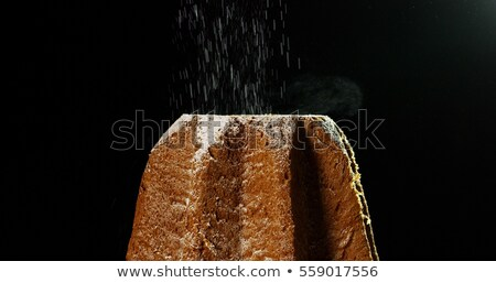 Pandoro the italian Christmas golden cake Stock photo © aladin66