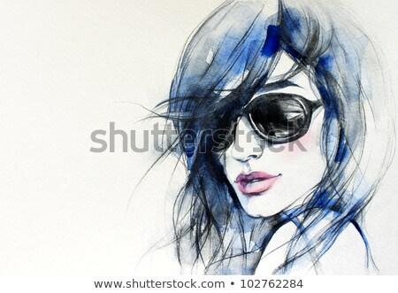 Creative hand painted fashion illustration Stock photo © Elmiko