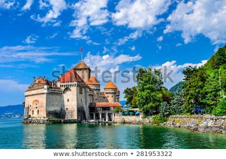 kasteel · Zwitserland · meer · hemel · water - stockfoto © elenarts