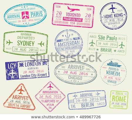 útlevél · bélyegek · Hongkong - stock fotó © sielemann