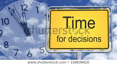 Time To Decide Clock Stock photo © kbuntu