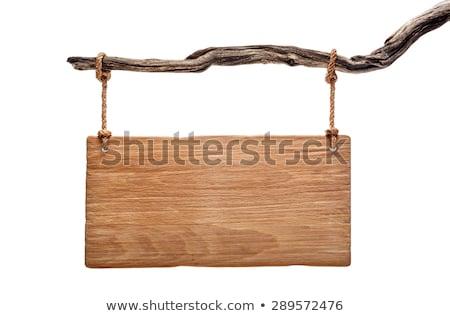 Vier verschillend gekleurd houten borden Stockfoto © wingedcats