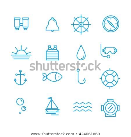 tengeri · tenger · ikonok · vektor · ikon · gyűjtemény · eső - stock fotó © stoyanh