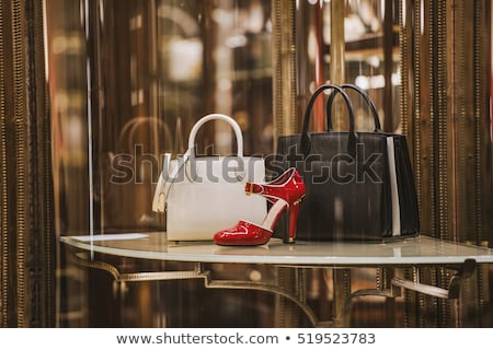 shelfs in store with bags and shoes Stock photo © Paha_L