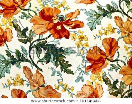 Stock photo: fragment of carpet with floral ornament