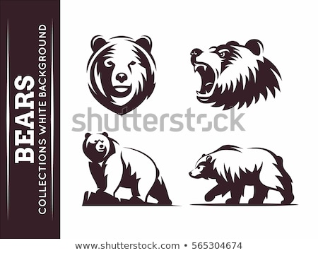 Stok fotoğraf: Bear Grizzly Mascot Head Vector Graphic