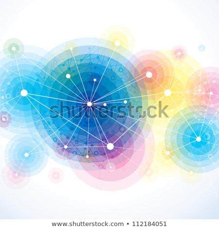 DNS szín technológia gyógyszer tudomány fekete Stock fotó © 4designersart