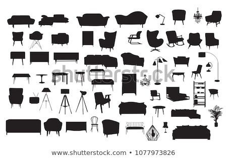 Furniture silhouette vector illustration set. Stock photo © Bytedust