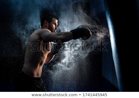 lutador · treinamento · momento · cara · modelo - foto stock © pedromonteiro