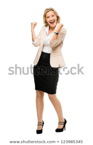 portret · gelukkig · asian · zakenvrouw · lopen - stockfoto © maridav