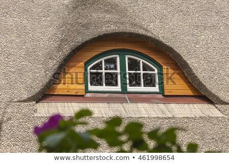 Maison toit prairie plage bois soleil Photo stock © Borissos