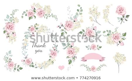 wreath of roses and hearts stock photo © marinini