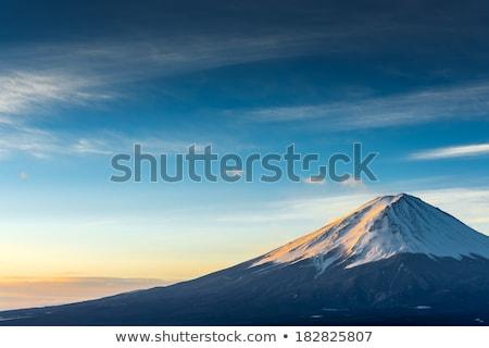 fuji · montanha · neve · água · fundo · verão - foto stock © yoshiyayo