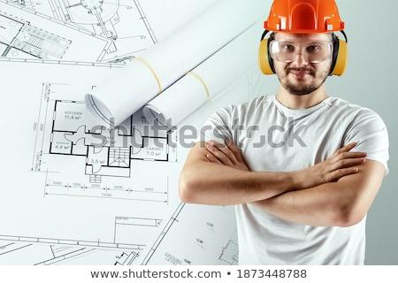 Сток-фото: Adult Male Drawing Business Enviroment Sketch