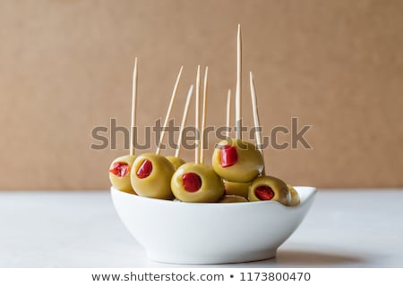 pimento stuffed green olives Stock photo © leeavison