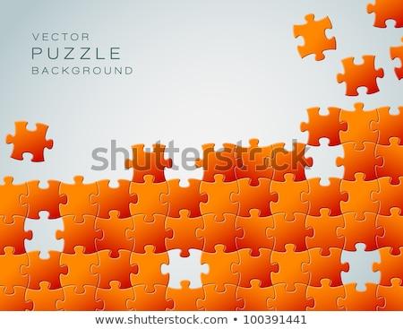 Vettore abstract arancione pezzi del puzzle luogo business Foto d'archivio © orson