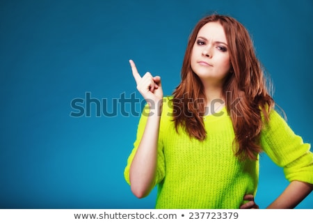 Woman shaking finger Stock photo © photography33