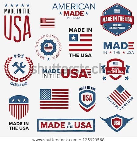 Stockfoto: Vector Badge With American Flag