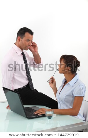 Flirtatious business duo Stock photo © photography33