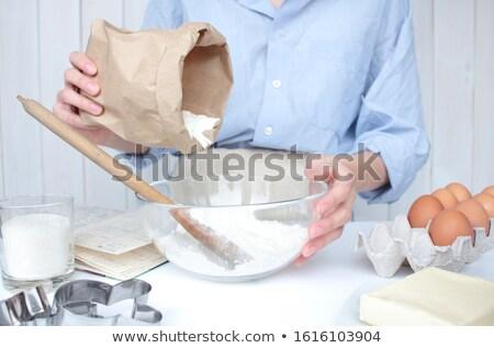 Печенье · женщину · масло · мучной · стороны - Сток-фото © rob_stark