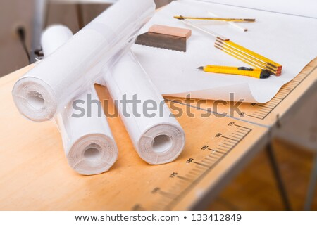 Artisan Rolls Of Wallpaper Stok fotoğraf © Dar1930