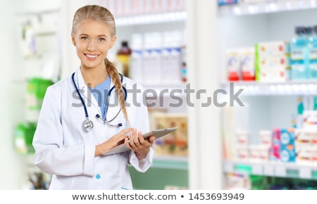 Photo stock: Portrait · Homme · pharmacien · pharmacie · affaires · femme
