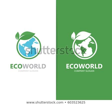verde · tierra · símbolo · hojas · mariquita · mundo - foto stock © WaD