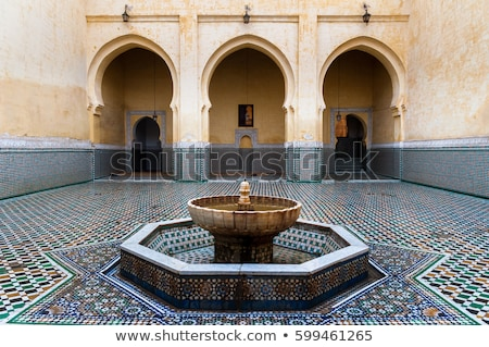 Courtyard of the Tomb of Moulay Ismail in Meknes Stock photo © Armisael