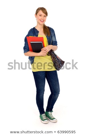 Full length shot of school girl with bag stock photo © stockyimages