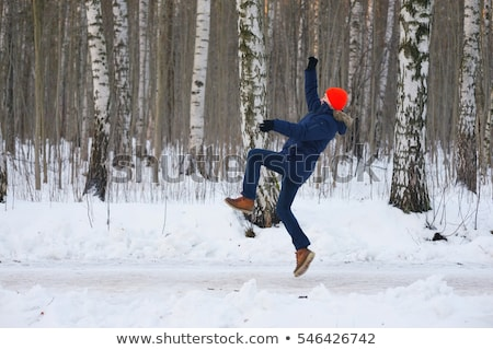 homem · neve · feliz · esportes · inverno · branco - foto stock © photography33