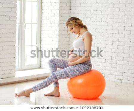 mulher · grávida · comprometido · fitness · feliz · mulher · menina - foto stock © privilege