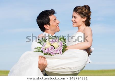 Gelin buket görüntü seçici odak çiçekler Stok fotoğraf © foto-fine-art