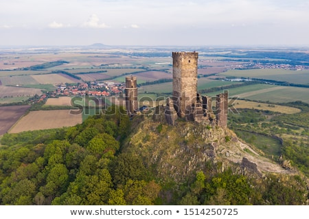 velho · castelo · pôr · do · sol · ruínas · cidade · verde - foto stock © capturelight
