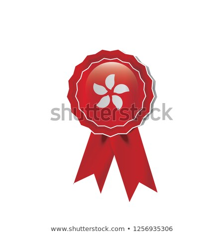 Hong Kong rosette flag Stock photo © milsiart