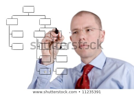Innovation Flow Chart Red Pen Stock photo © ivelin