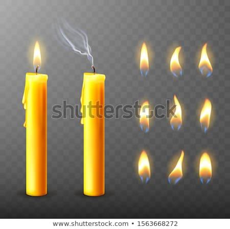 Flickering Flames Stock photo © RachelD32
