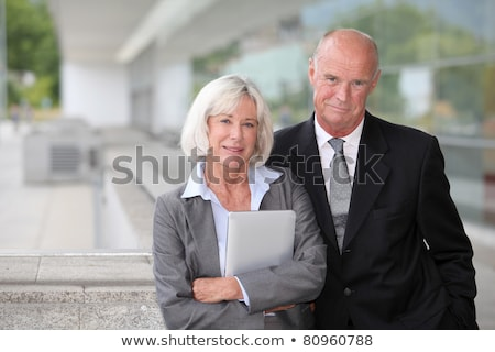 Senior Businesswoman PDA Stock photo © lisafx