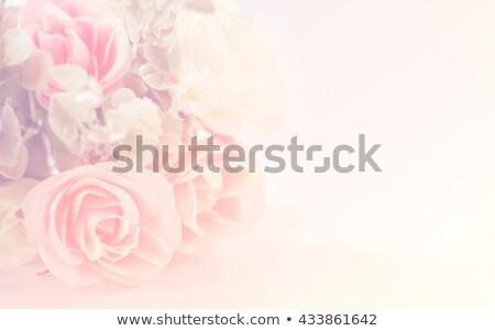 Klasszikus virágmintás kép kék szürke barna bőr Stock fotó © gregory21