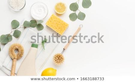 plastik · şişe · temizlik · ürün · fırçalamak · yalıtılmış - stok fotoğraf © karandaev