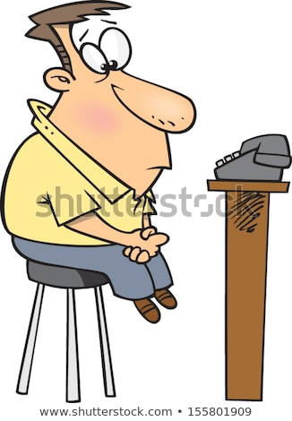 lonely man waiting for the phone to ring stock photo © photography33