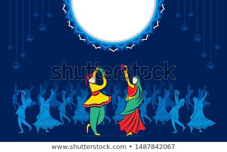 Paar spelen illustratie vrouw muziek man Stockfoto © vectomart