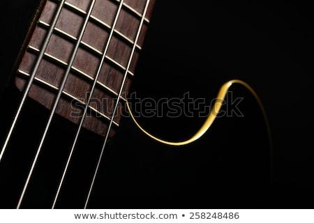 бас · гитаре · стороны · музыканта · играет · пять - Сток-фото © prill