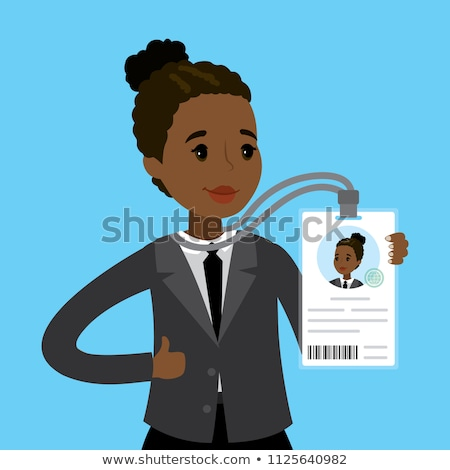 Afro-american businesswoman holding a business card holder  Stock photo © wavebreak_media