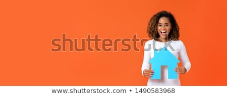 Woman holding model housing Stock photo © photography33