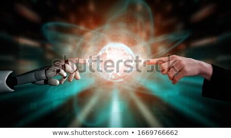 Stok fotoğraf: Dijital · Tanrı · bilgisayar · soyut · iletişim · karanlık