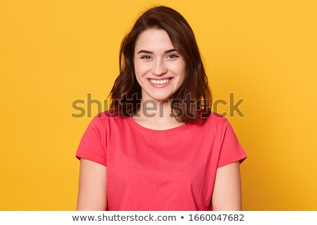 young woman in red shirt Stock photo © ssuaphoto